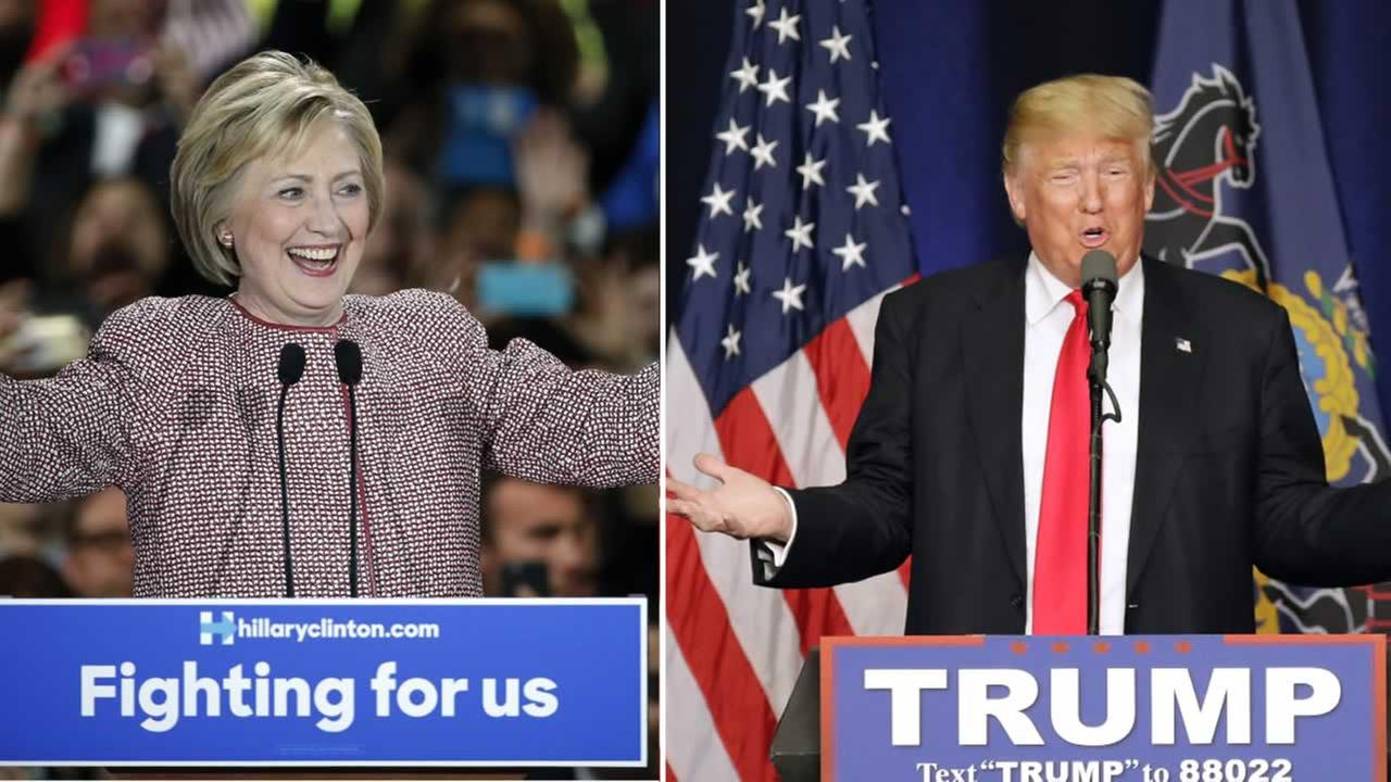 Hillary Clinton and Donald Trump are aiming for sweeps in the northeastern primaries on Tuesday, April 26, 2016.