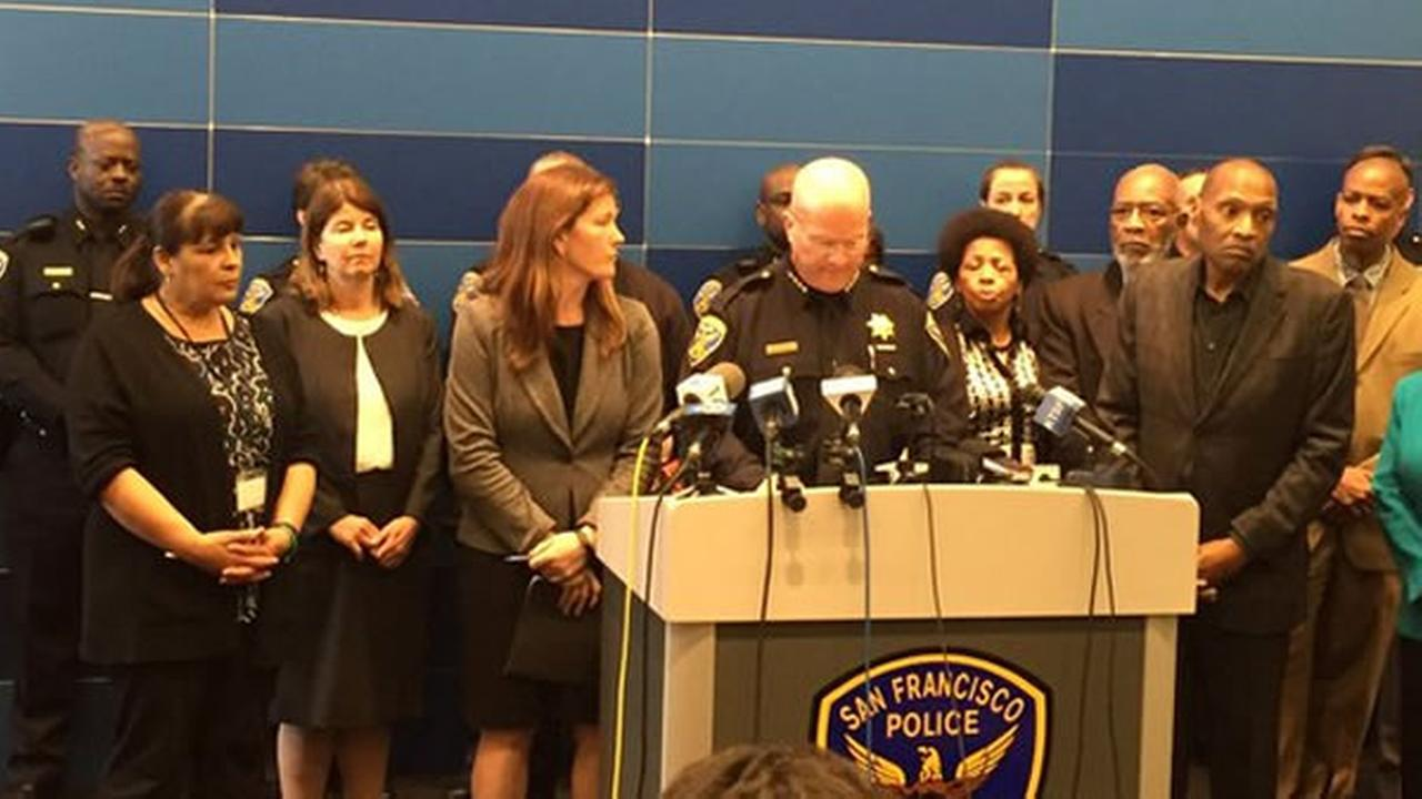 SFPD Chief Greg Suhr speaks in San Francisco on Friday, April 29, 2016.