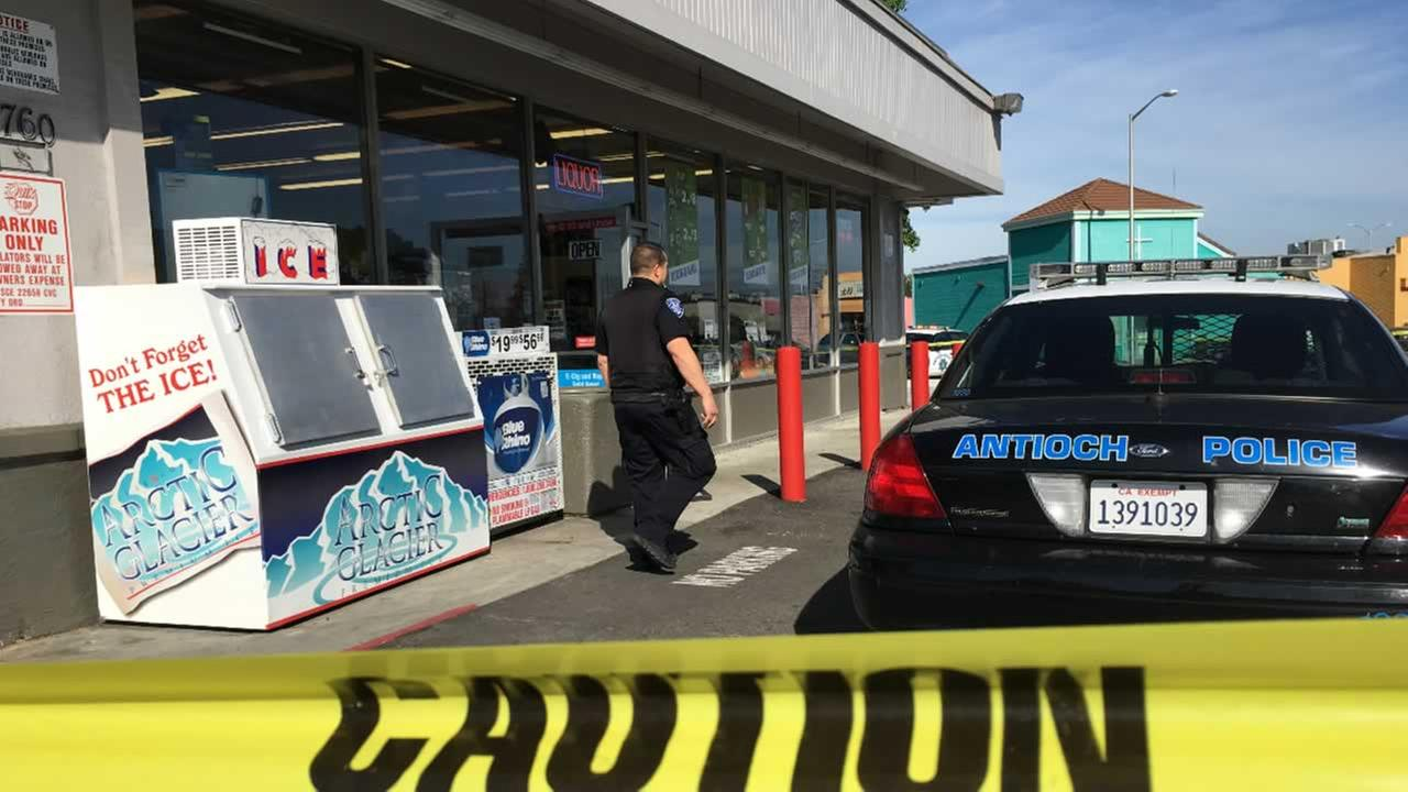 Police are investigating a fatal shooting at the Quik Stop Market on W. Tregallas Road in Antioch, Calif. on Monday, May 2, 2016.