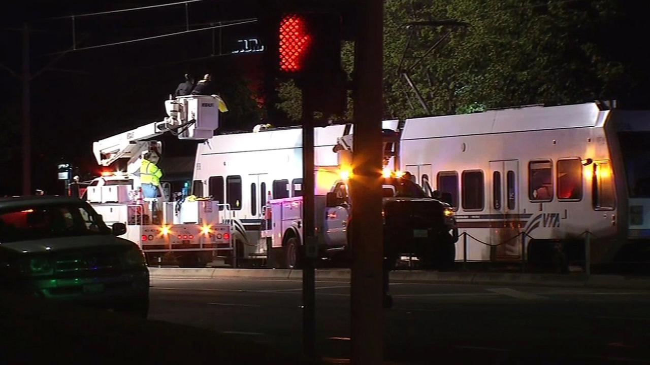 Police activity causes VTA light rail service disruption in San Jose, California, Thursday, May 5, 2016.