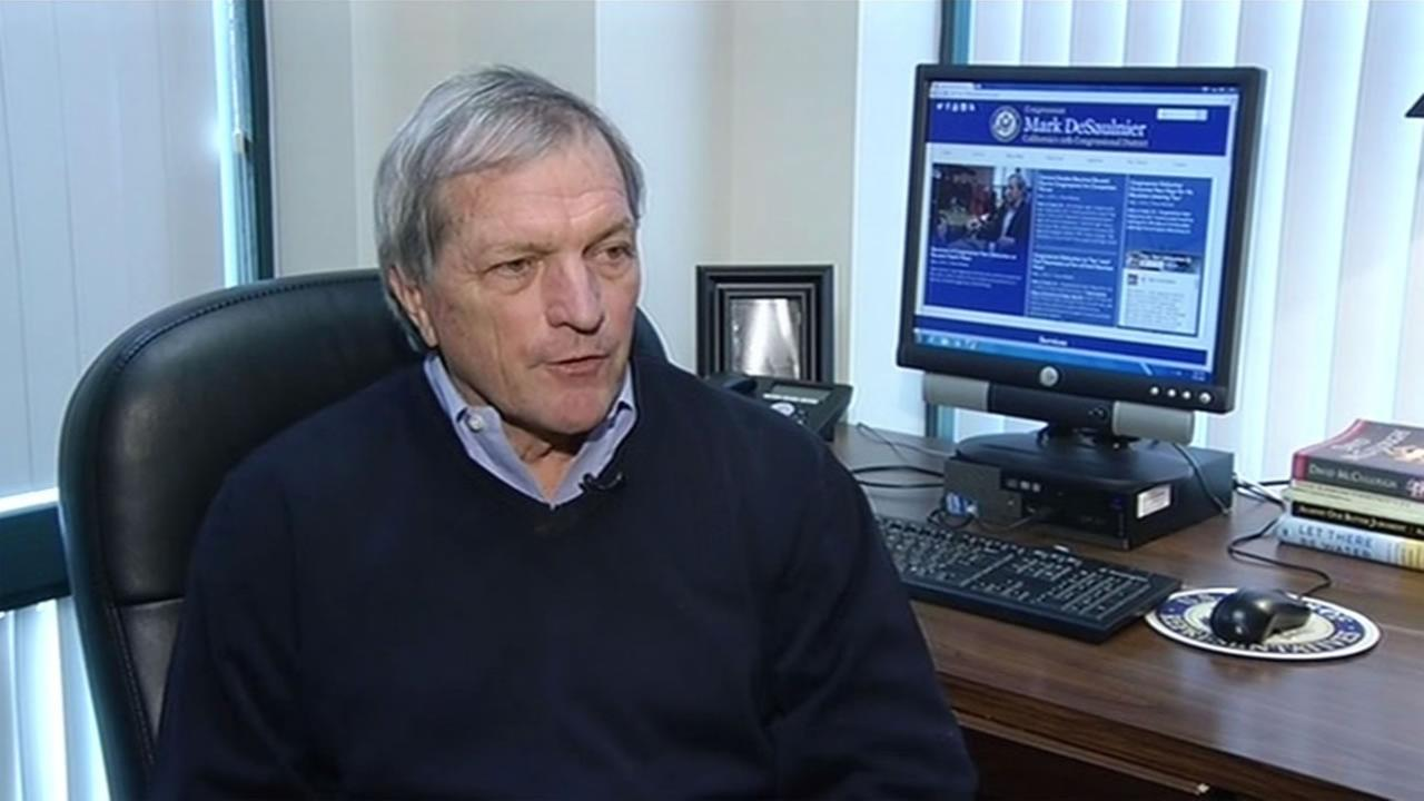 This image shows East Bay congressman Mark Desaulnier in his office May 5, 2015.