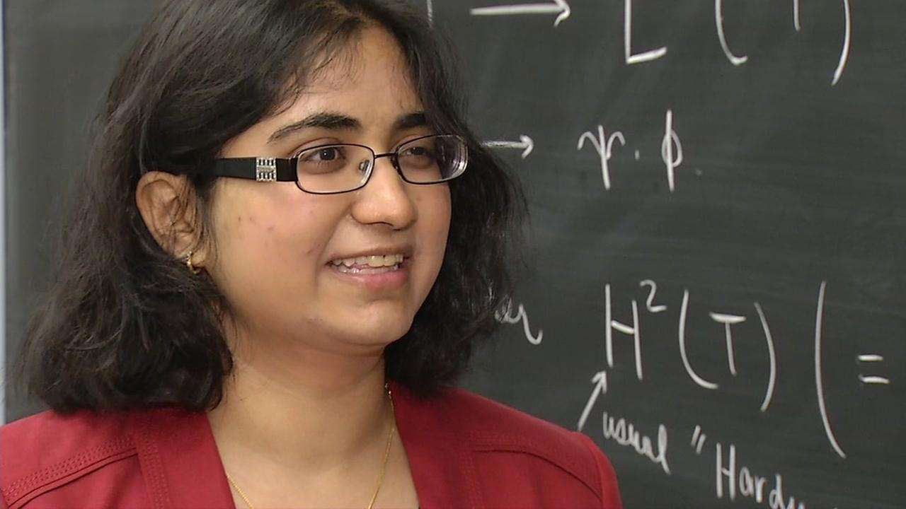 Kaavya Valiveti, UC Berkeleys top graduating senior, talks to ABC7 News in Berkeley, Calif. on Friday, May 6, 2016.