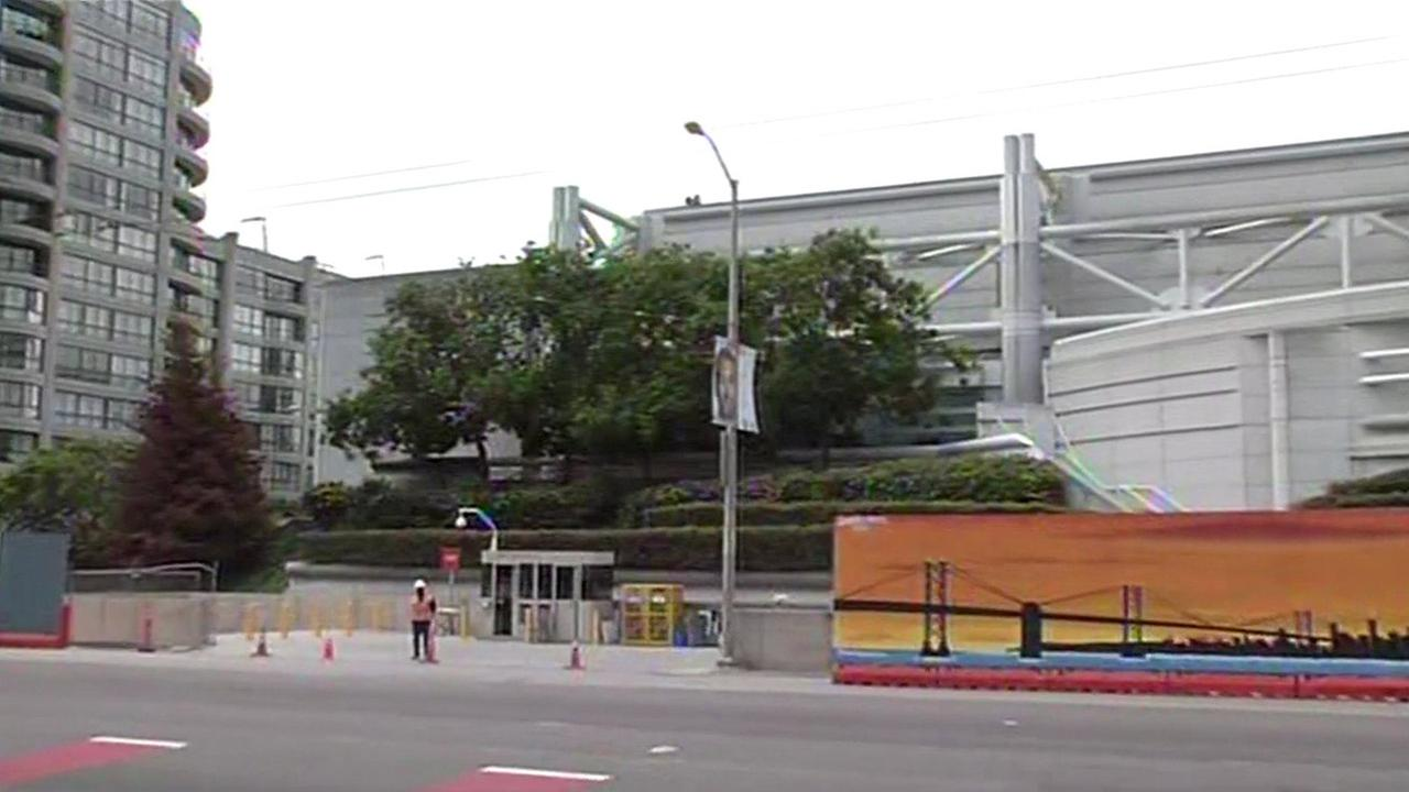 San Francisco police are investigating the death of a worker at the Moscone Center, San Francisco, California, Friday, May 13, 2016.
