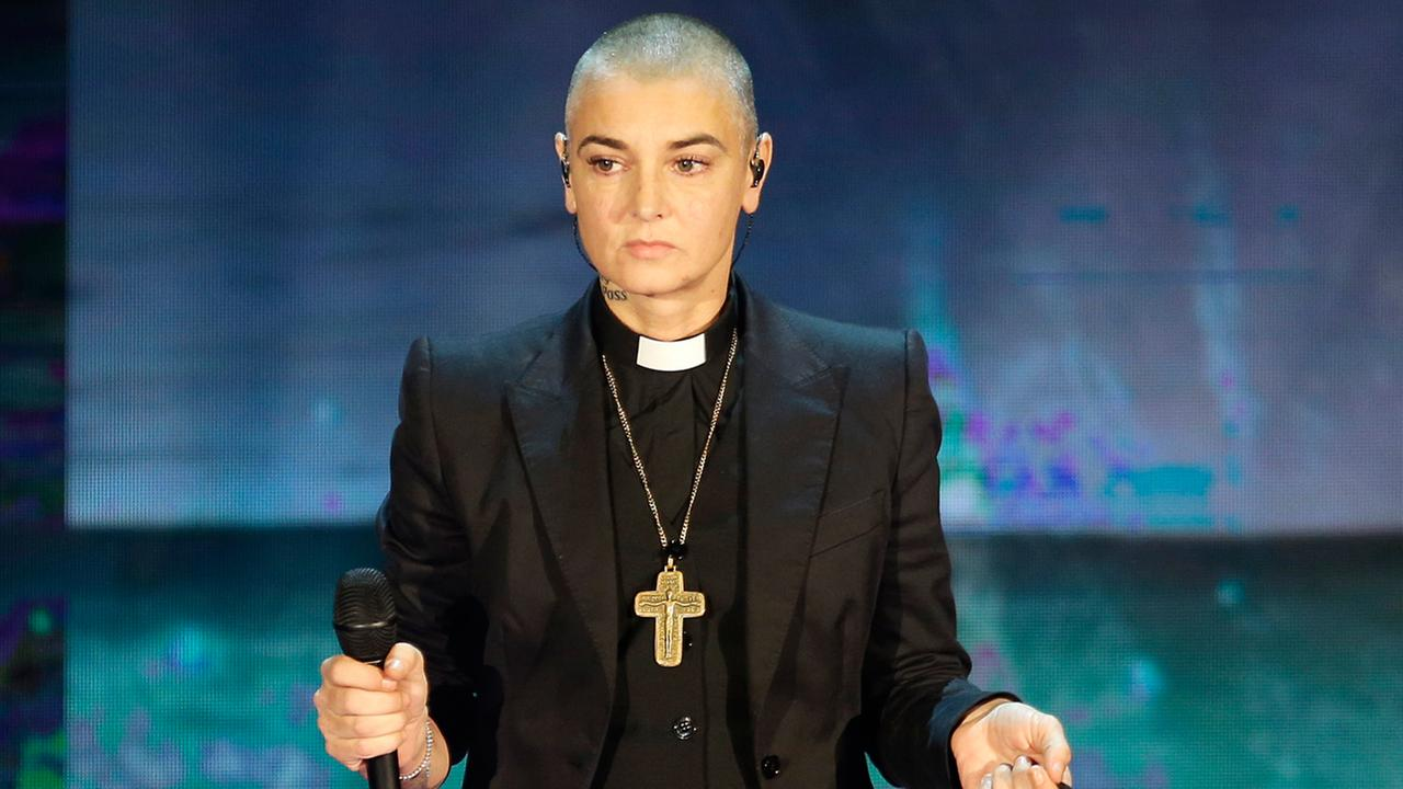 FILE - In this Oct. 5, 2014 file photo, Irish singer Sinead OConnor performs during the Italian State RAI TV program Che Tempo che Fa, in Milan, Italy.