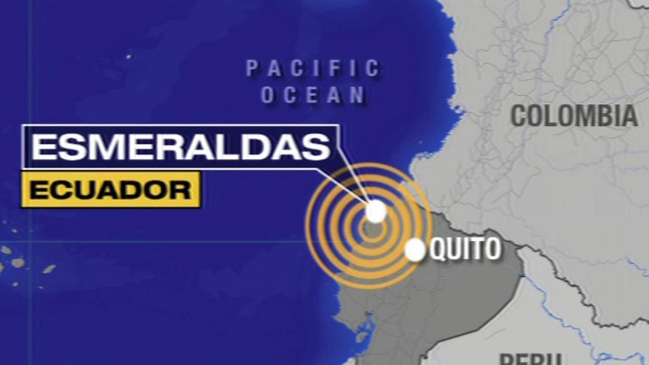 A powerful magnitude-6.7 aftershock rattled Ecuador near the Pacific coast area, Wednesday, May 18, 2016.