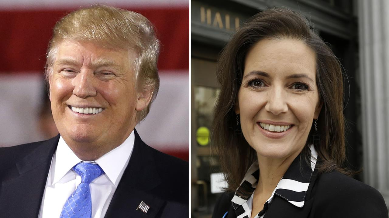 From left to right: presumptive Republican presidential nominee Donald Trump and Oakland Mayor Libby Schaaf.