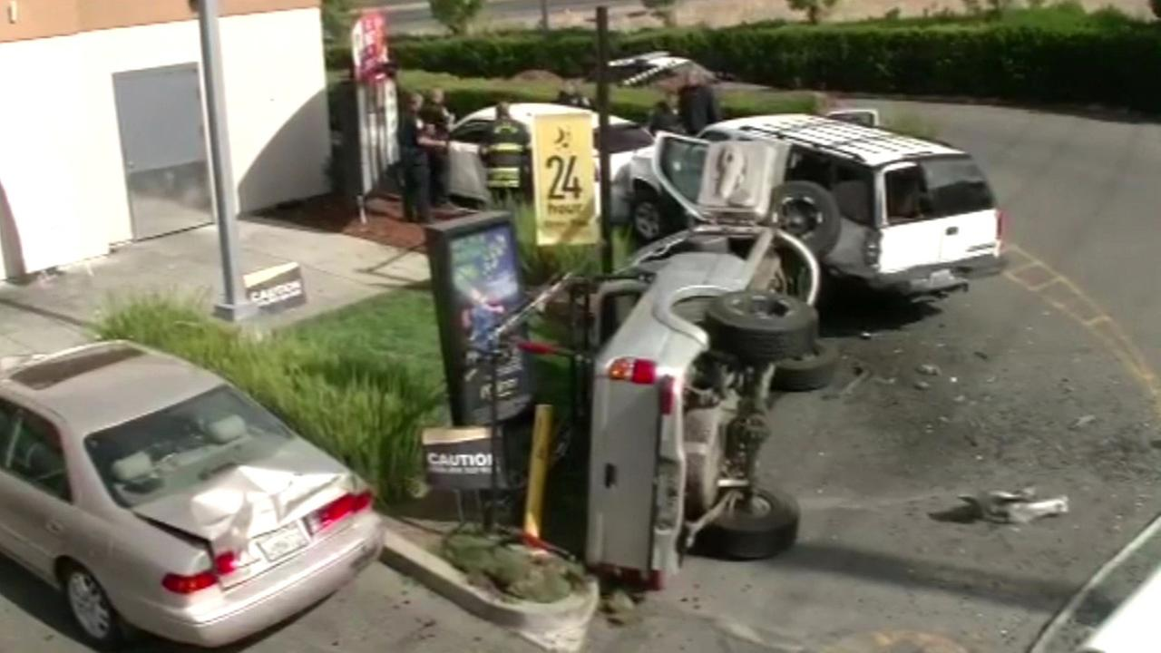 Vallejo crash at McDonalds