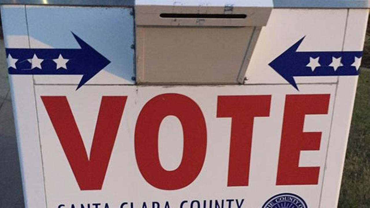 Voters can turn in their ballots to a box like this one in Santa Clara County.