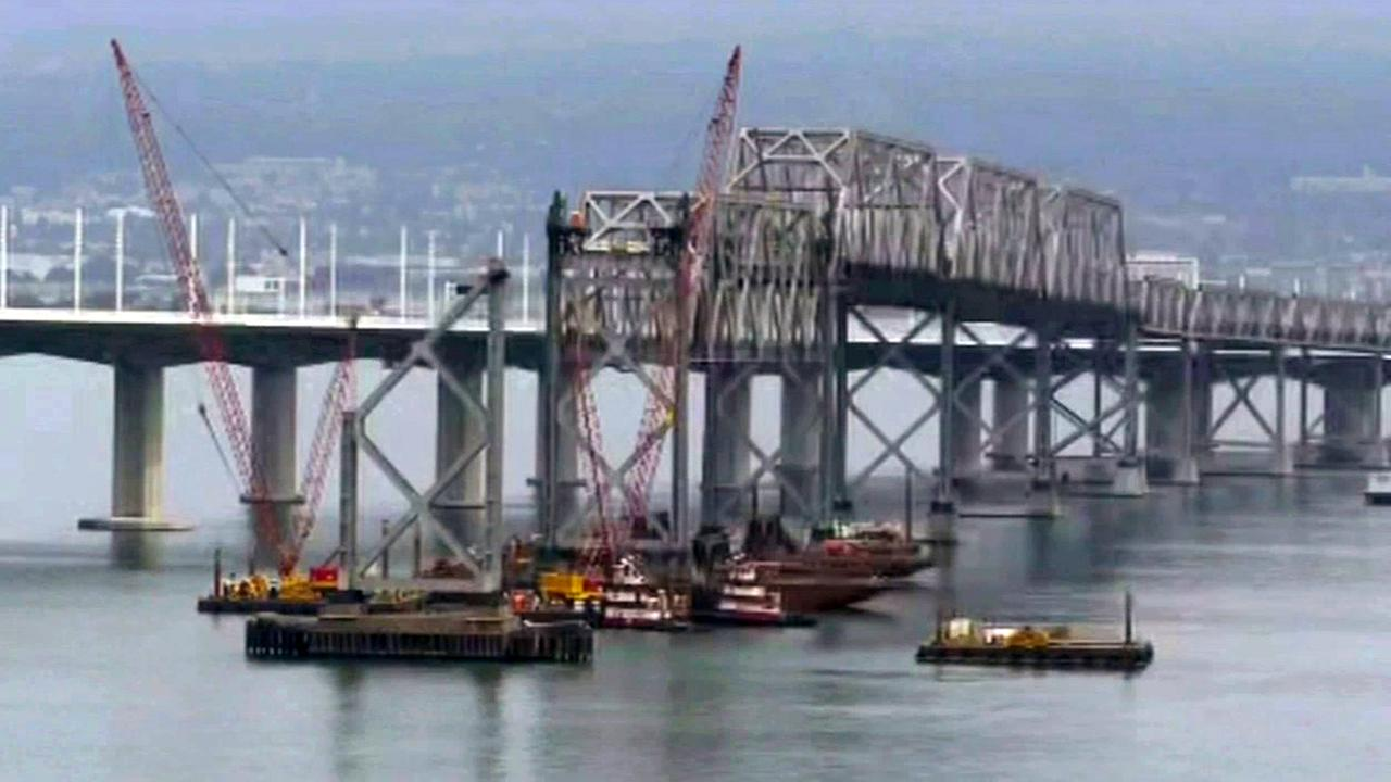 FILE -- Bay Bridge truss removed.