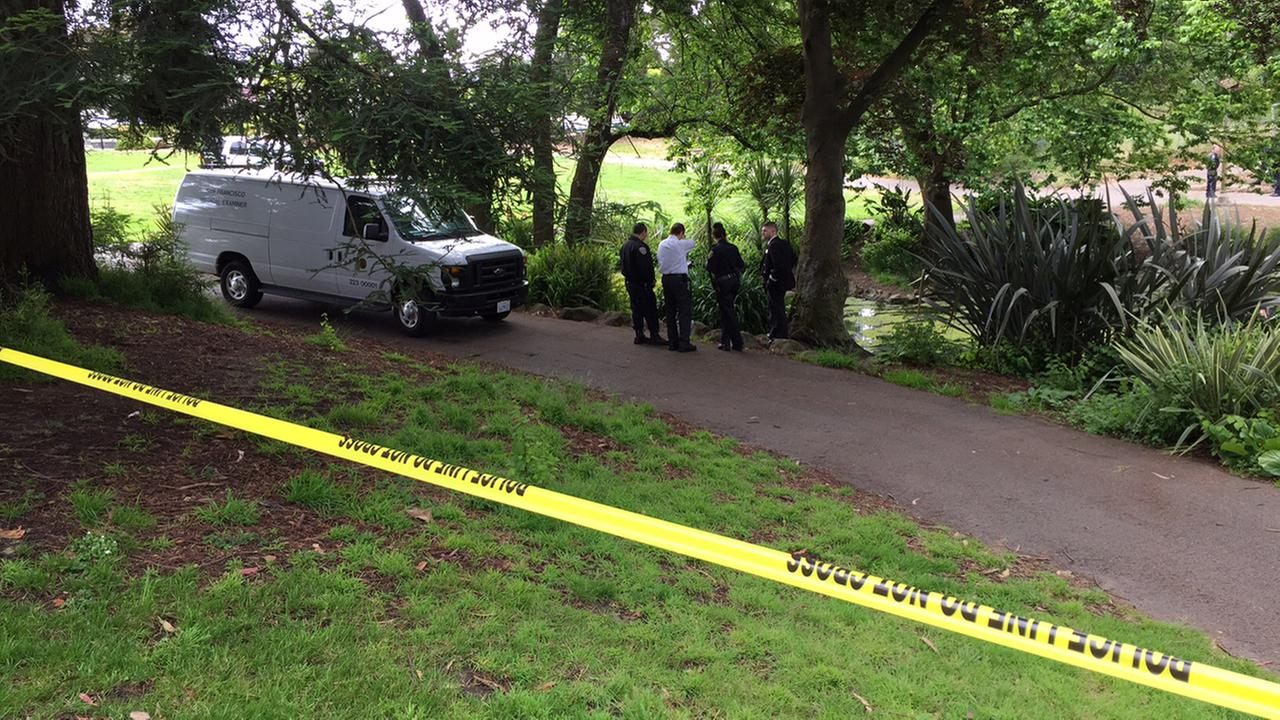 San Francisco police investigate discovery of body in lake in Golden Gate Park, Monday, May 24, 2016.