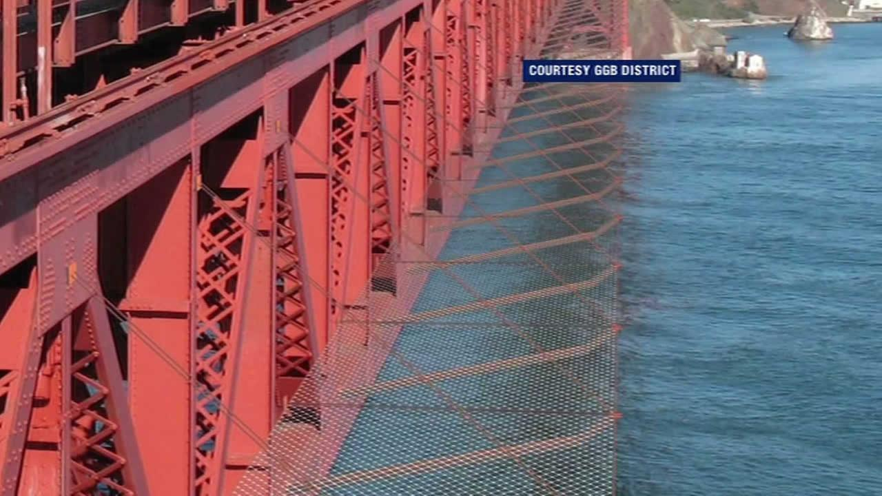Golden Gate Bridge suicide net.