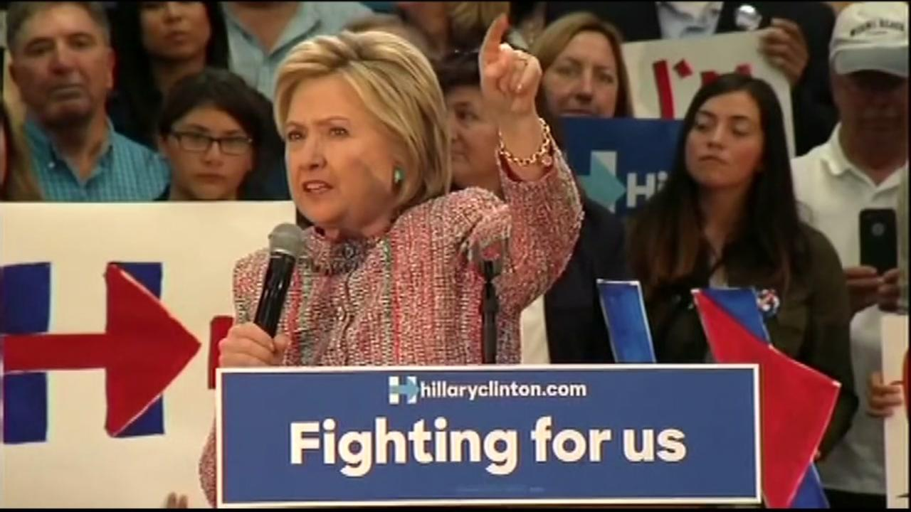 Democratic presidential candidate Hillary Clinton spoke at a rally in Salinas, Calif. on Wednesday, May 25, 2016.