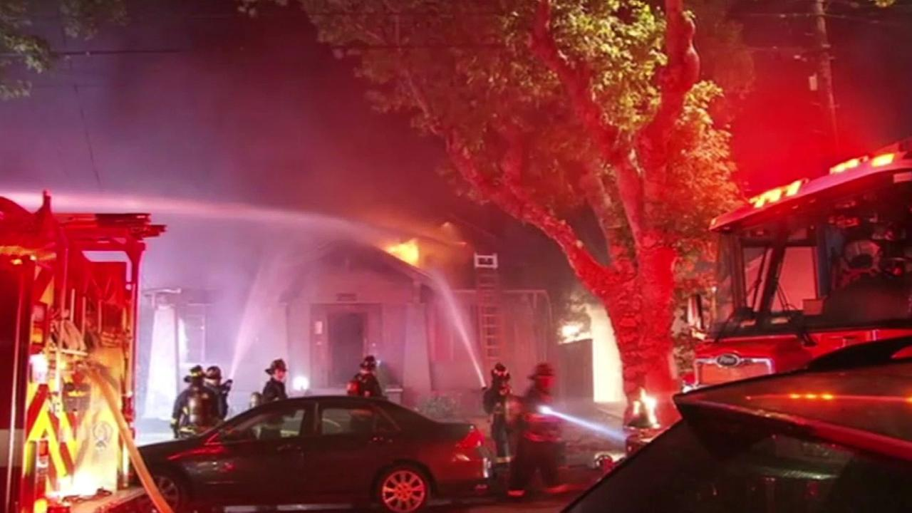 House fire in Alameda on Fountain Street near Santa Clara Avenue, Friday, May 27, 2016.