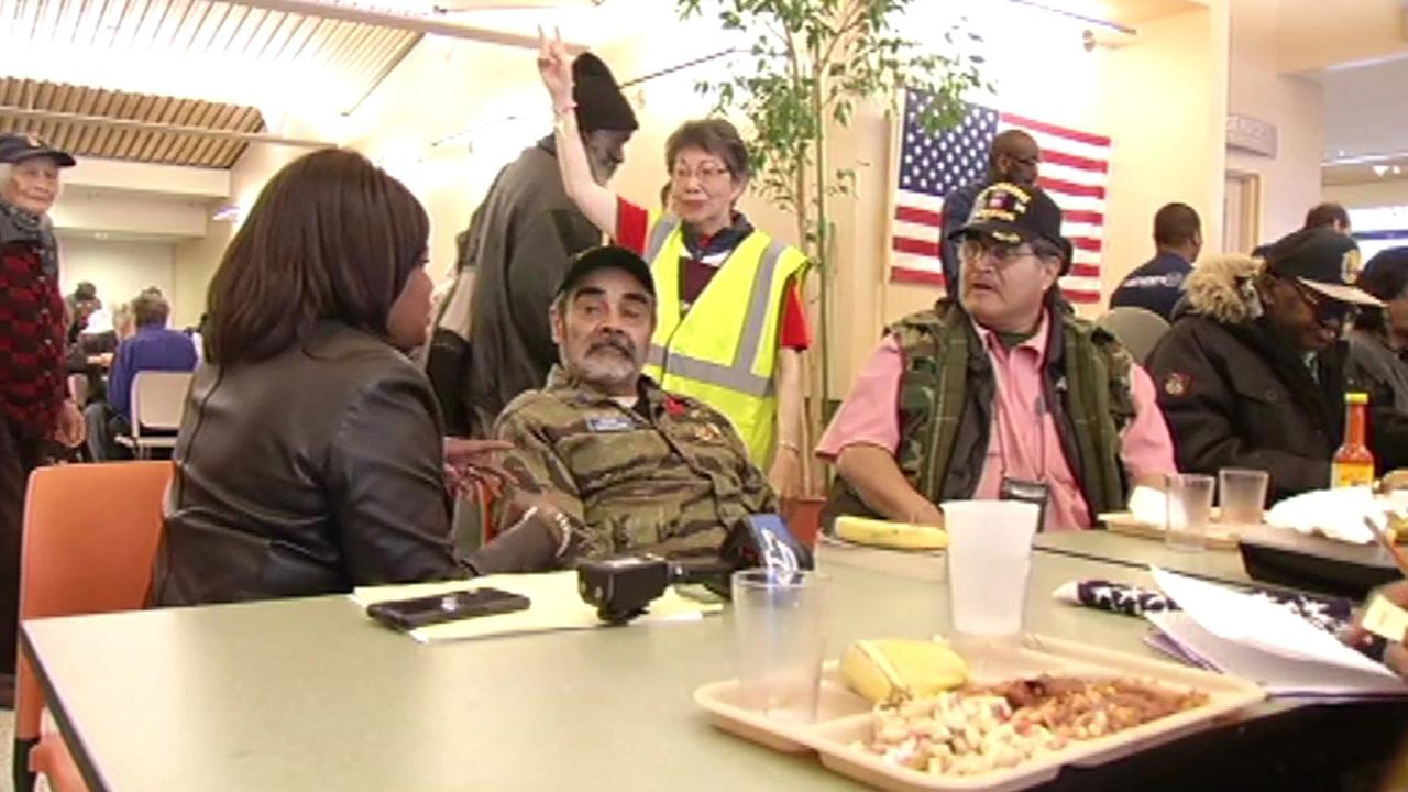St. Anthonys dining room in San Francisco is hosting a special lunch for the men and women who have served our country, Monday, May 30, 2016.KGO-TV