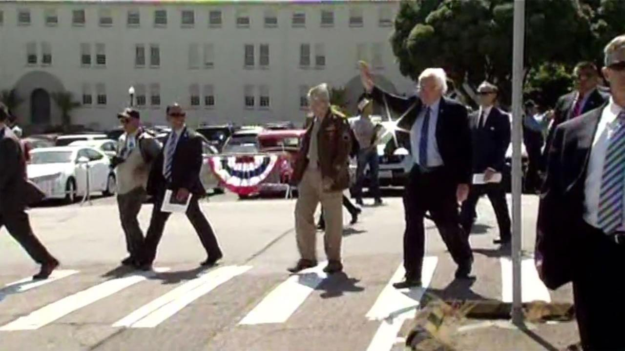 Bernie Sanders attended a Memorial Day event in San Franciscos Presidio on Monday, May 30, 2016.