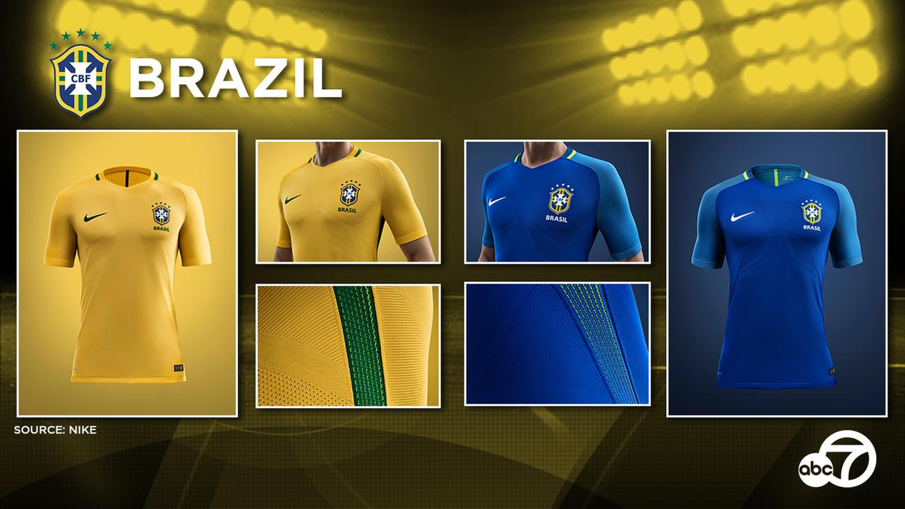 The Brazil national team unveiled new kits again, after the 2015 home and away football shirts were skipped due to disappointing sales of the 2014 jerseys.