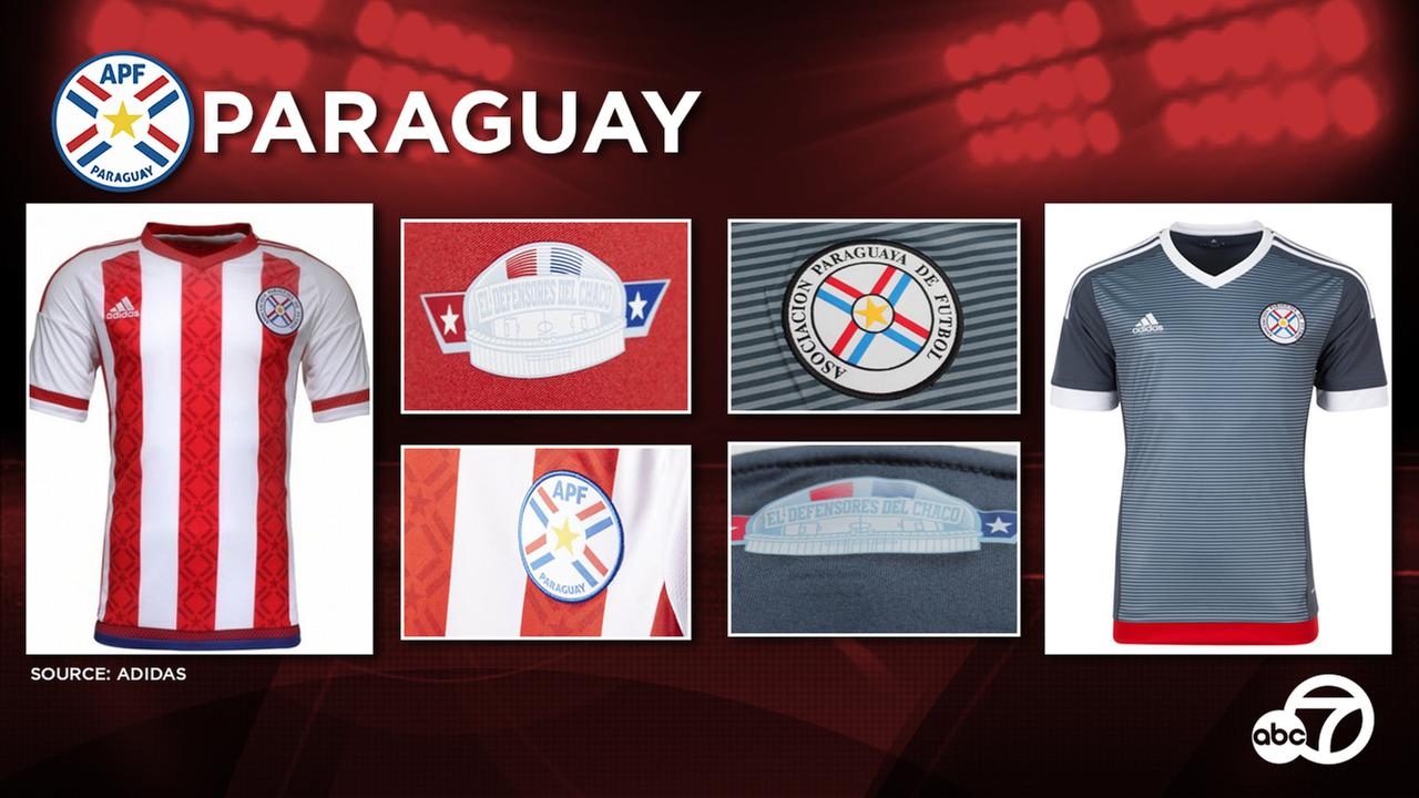 Supplied by Adidas, Paraguay is expected to continue sporting the home and away kits unveiled for Copa Americas 2015 edition.
