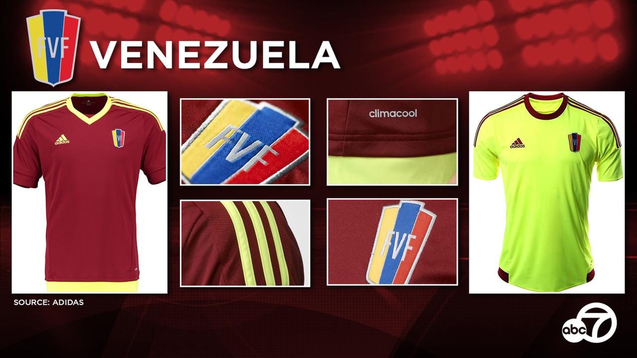 Venezuela is highly likely to again use the fluorescent yellow-heavy Venezuela 2015 home and away kits, made by long-term supplier Adidas.