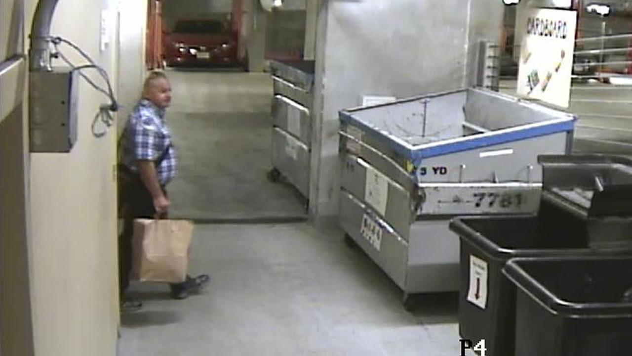 San Francisco police have released surveillance photos of a man accused of setting fires in the South of Market neighborhood Tuesday.