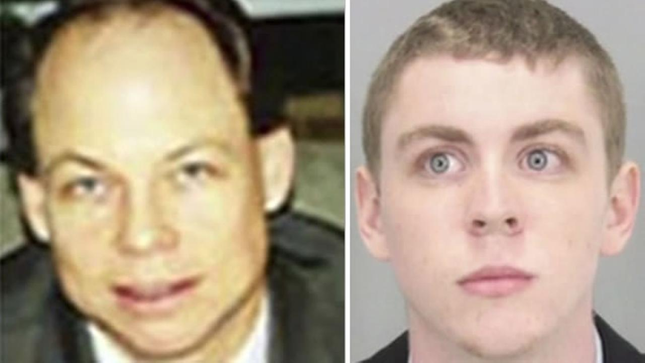 Judge Aaron Persky, left, sentenced former Stanford swimmer Brock Turner, right, to six months in county jail.