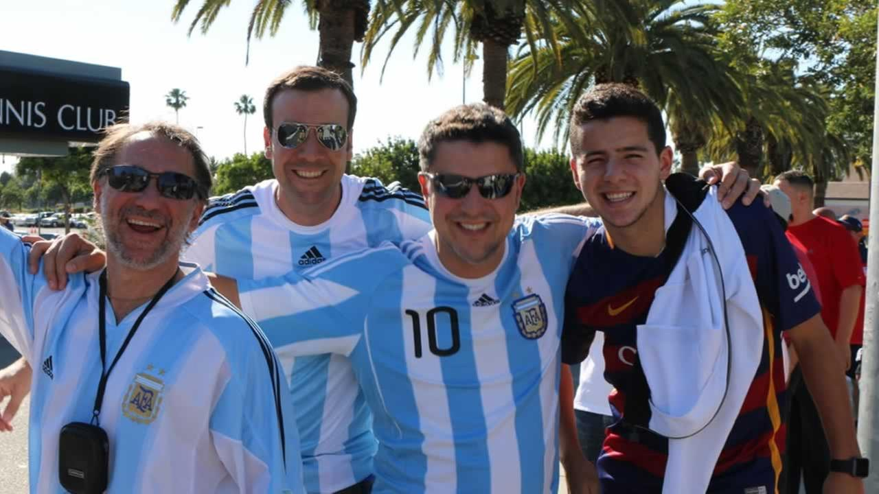 Chile vs. Argentina at Levi's Stadium on Monday, June 6, 2016. We want to see your fan pride, so tag your photos #ABC7Now and we may feature them here or on TV.KGO-TV
