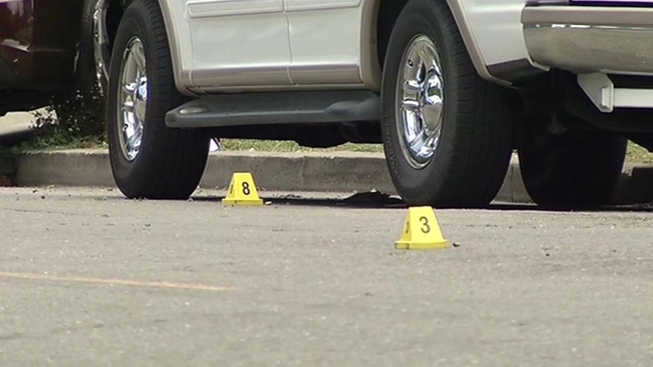Oakland police investigate shooting on Gaskill Street, Saturday, June 11, 2016.