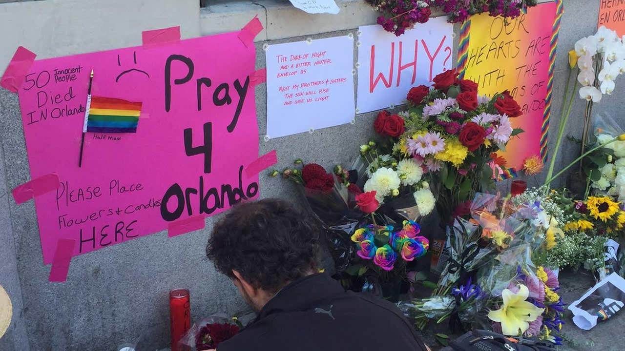 A memorial is growing in San Franciscos Castro District following the mass shooting at a gay nightclub in Orlando, Fla., on Sunday, June 12, 2016.