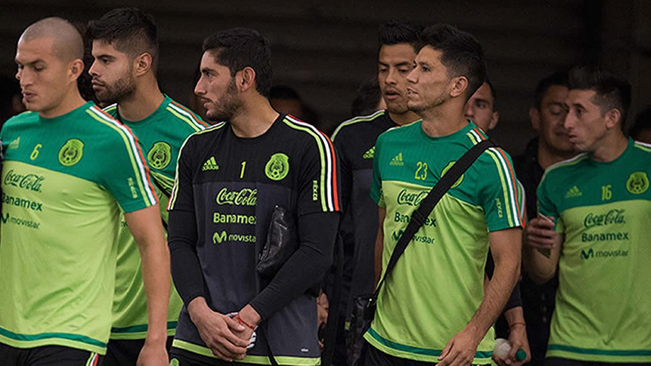 Mexico players (pictured) at training on May 12, 2016, in Houston.