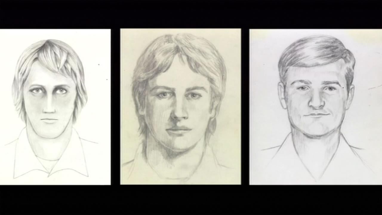 This image shows sketched released by the FBI June 15, 2016 of the Golden State Killer.