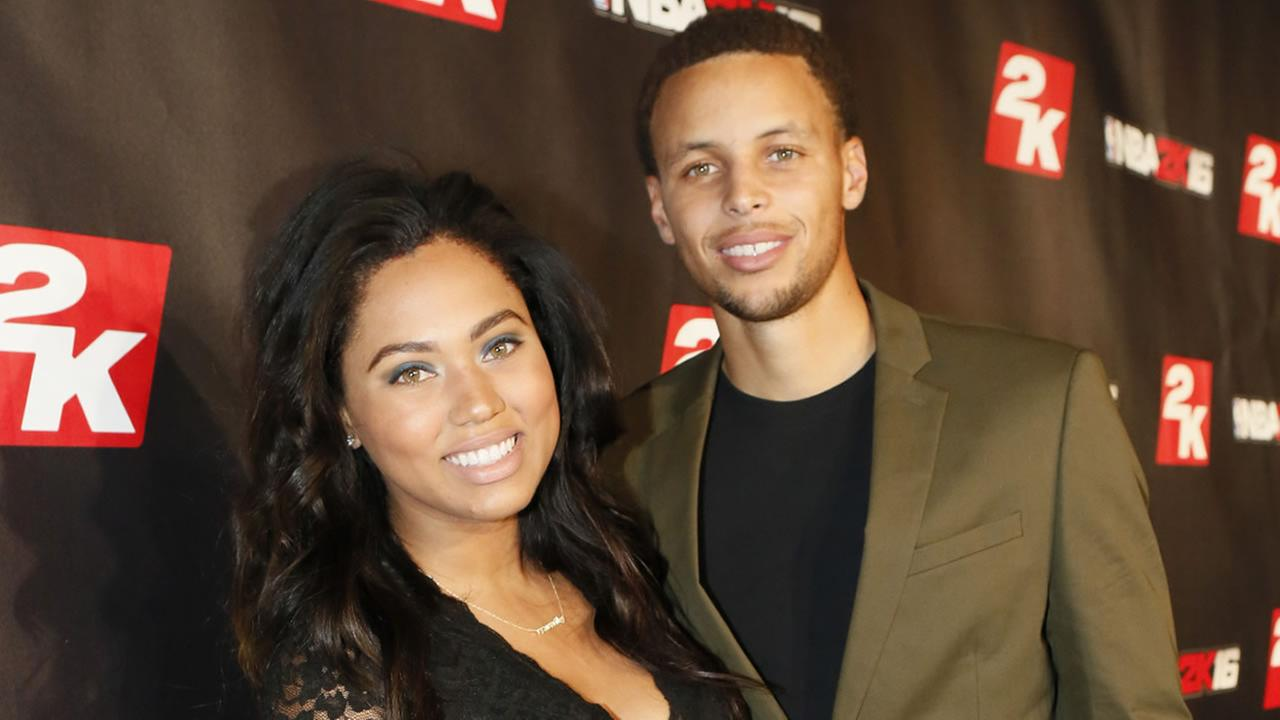 NBA MVP Steph Curry and his wife Ayesha pose on the red-carpet at the NBA 2K16 Uncensored Premiere Event at Marquee on Monday, Sept. 21, 2015, in New York.