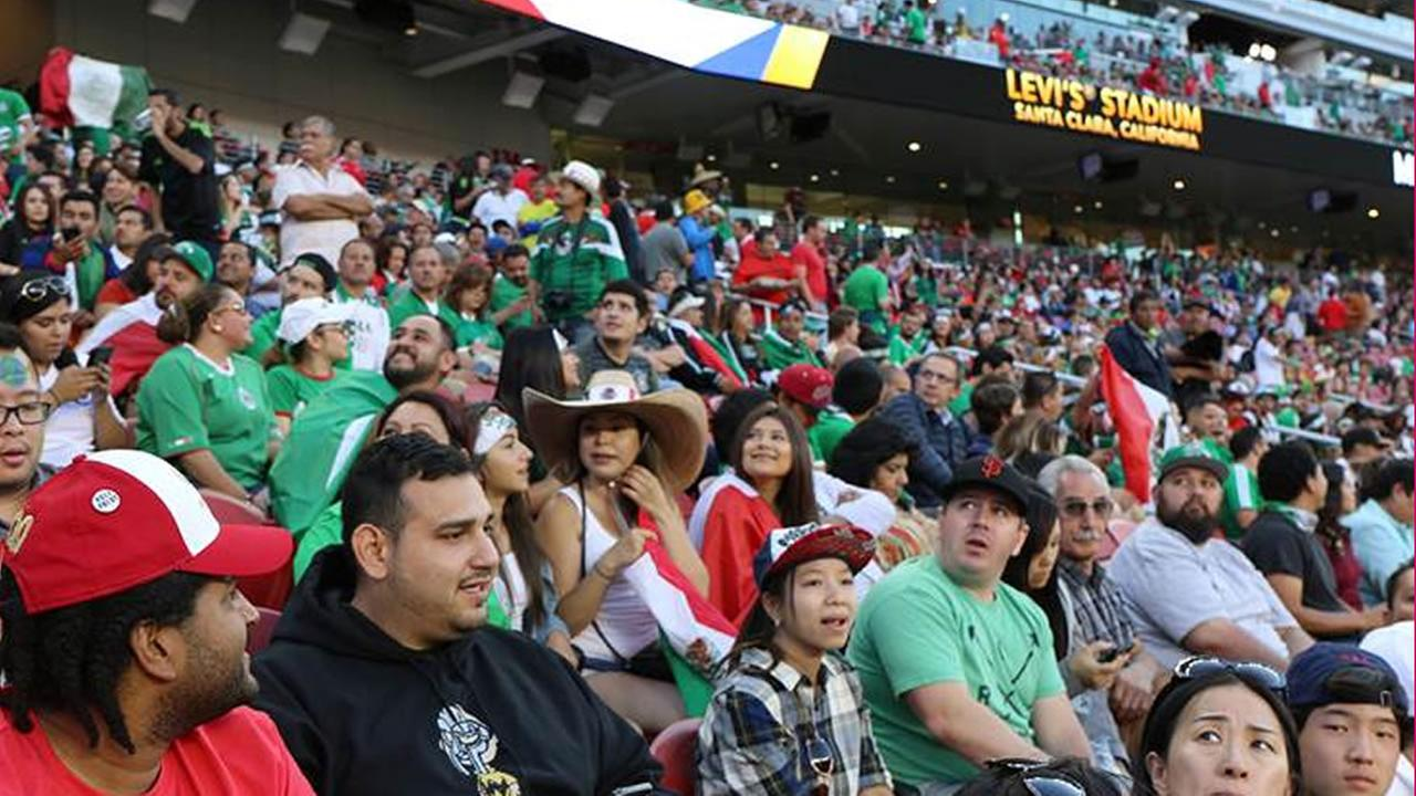 Fans watch Chile vs. Mexico at Copa America at Levis Stadium in Santa Clara, Calif. on Sunday, June 18, 2016.