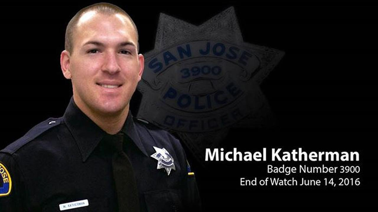 San Jose Officer Michael Katherman died in the line of duty on June 14, 2016.KGO-TV