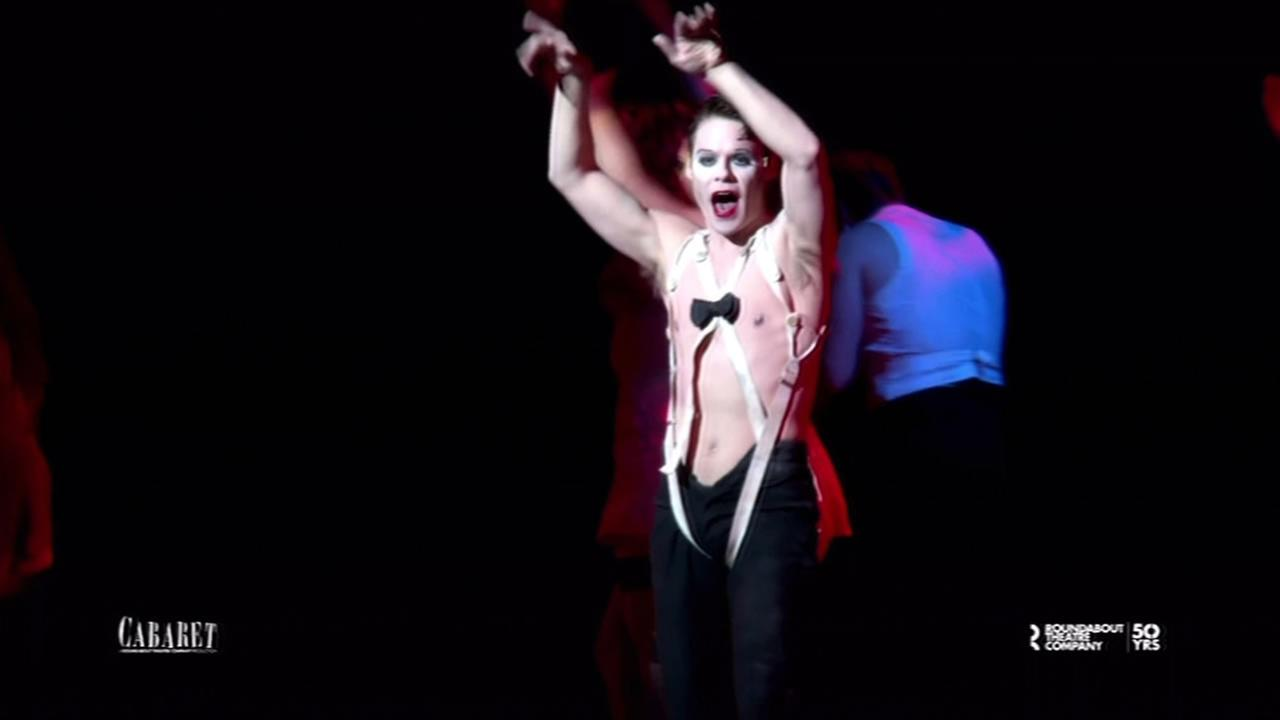 This undated image shows Randy Harrison playing the emcee of the Kit Kat Club in Cabaret.