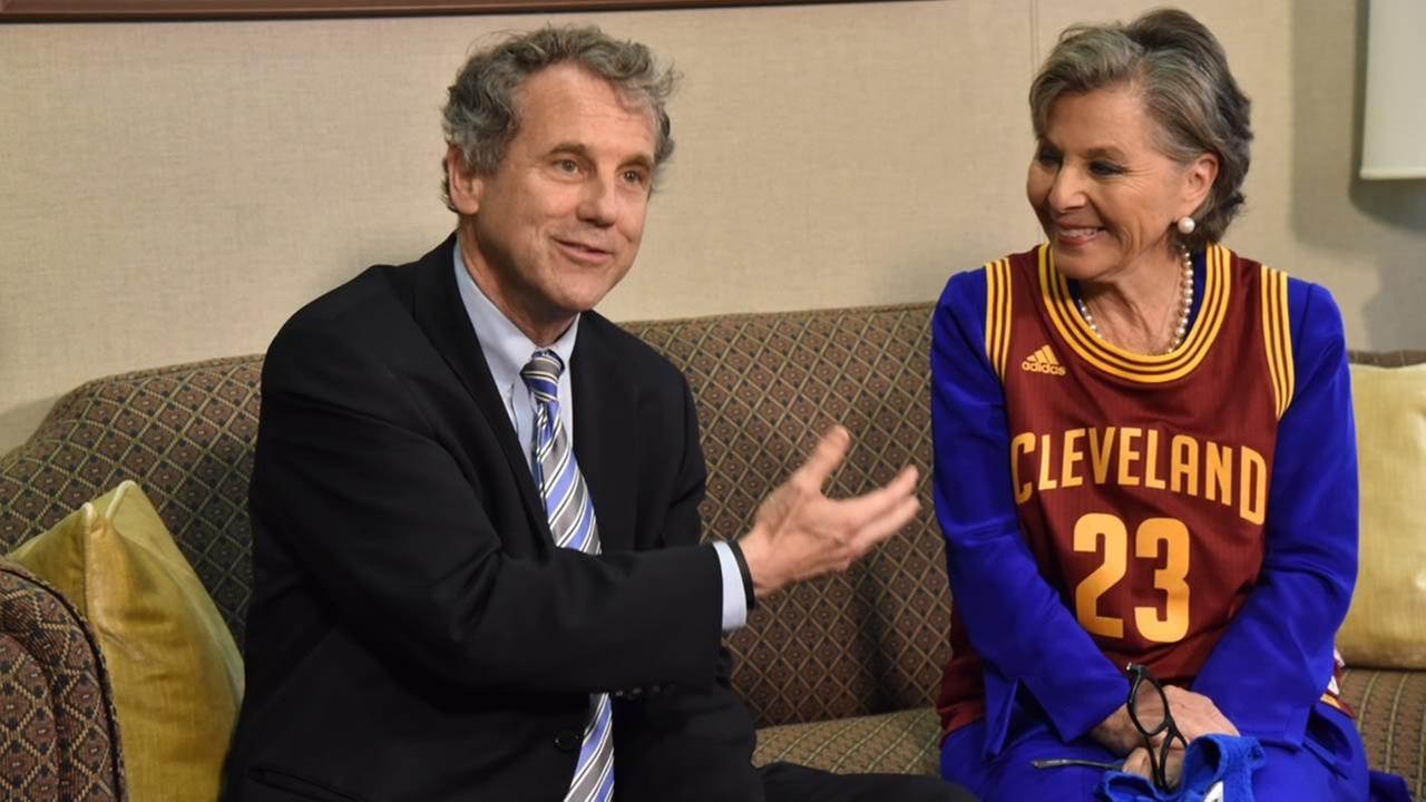 Senator Barbara Boxer settled a friendly wager over the Warriors-Cavs NBA Finals series with Ohio Senator Sherrod Brown on Wednesday, June 22, 2016 in Washington.Barbara Boxer