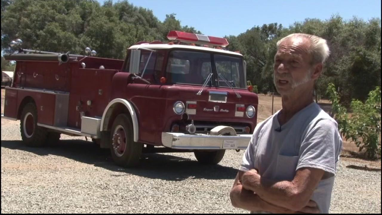 Calaveras County resident JC Allman spoke with ABC10 on June 24, 2016 about how he bought a fire truck to protect his home during wildfire season.