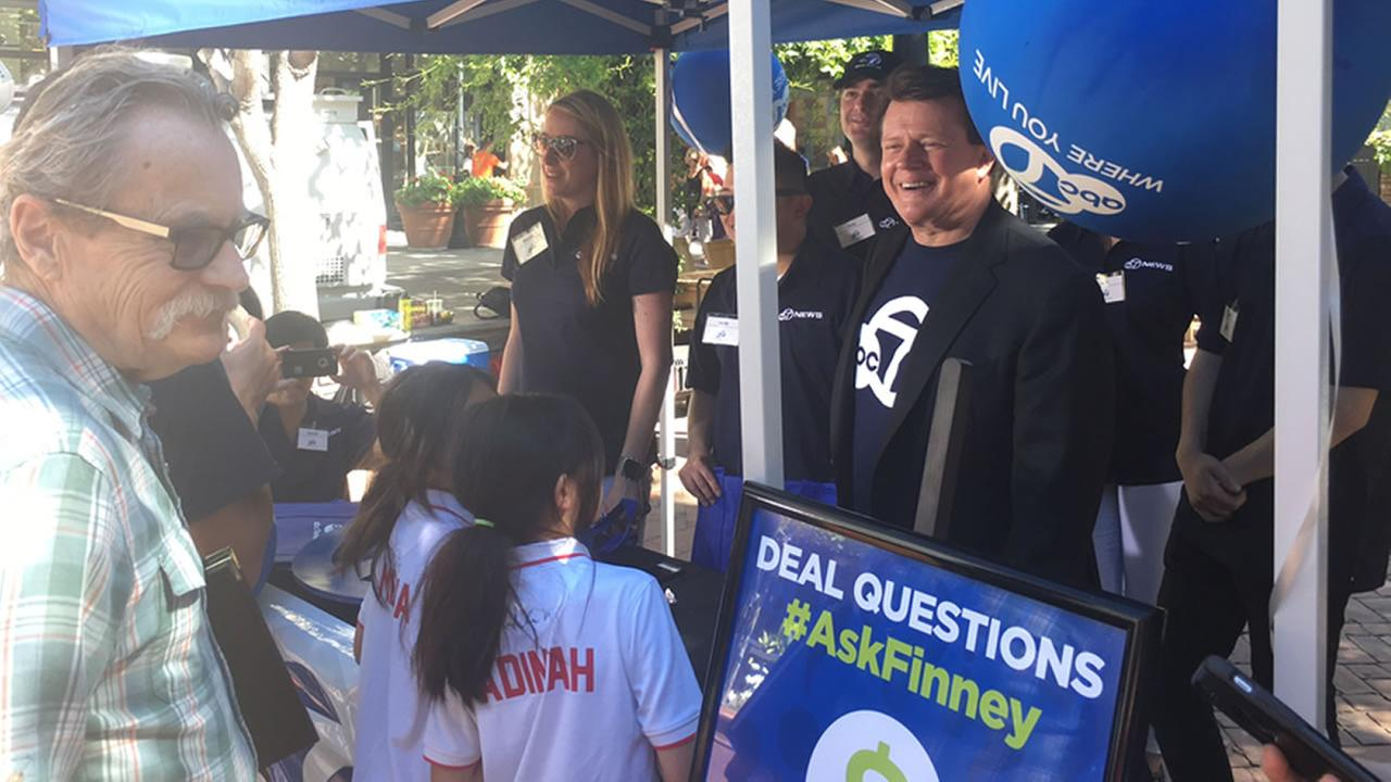 7 On Your Sides Michael Finney is answering consumer questions at an event at Santana Row in San Jose, Calif. on Friday, June 24, 2016.