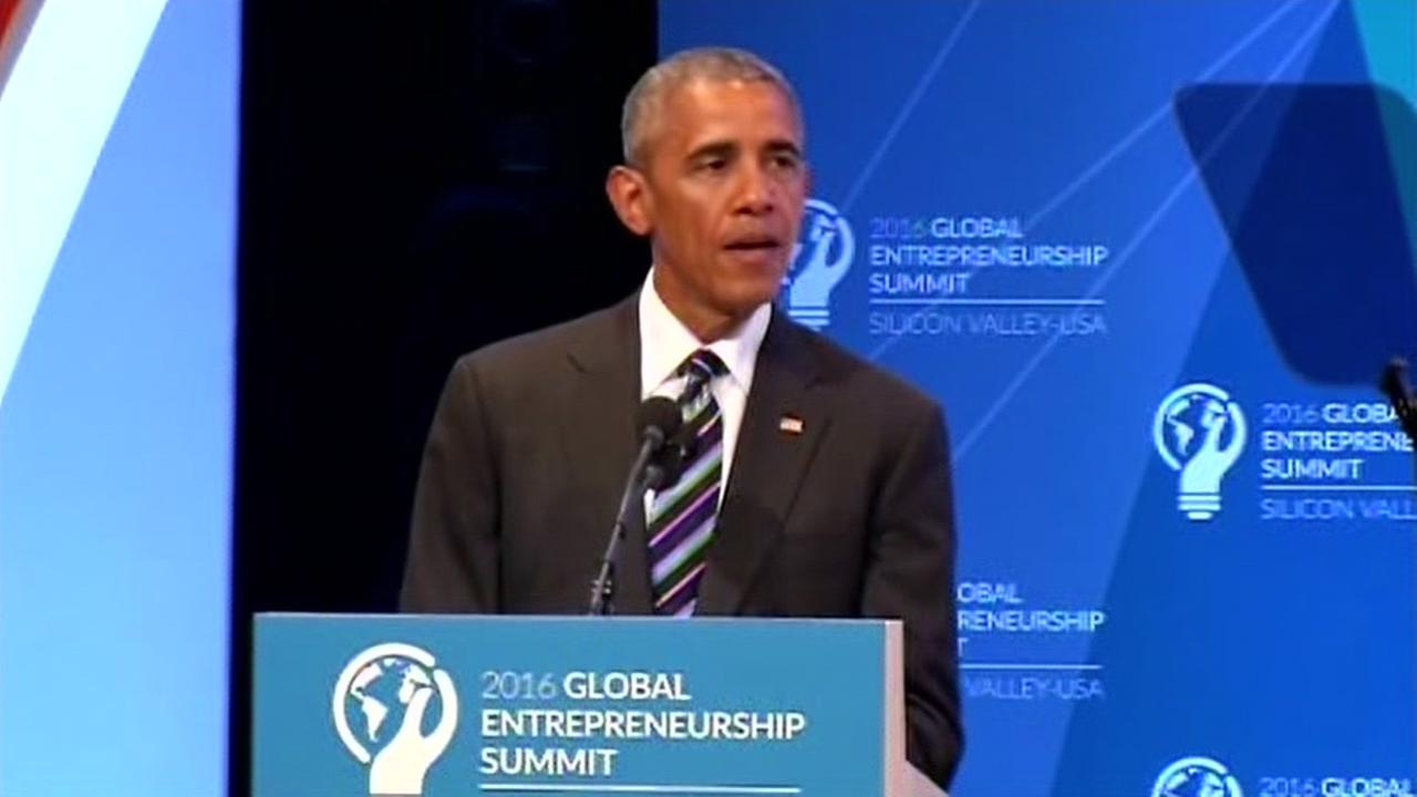 President Barack Obama spoke at the Global Entrepreneurship Summit at Stanford University in Stanford, Calif. on Friday, June 24, 2016.