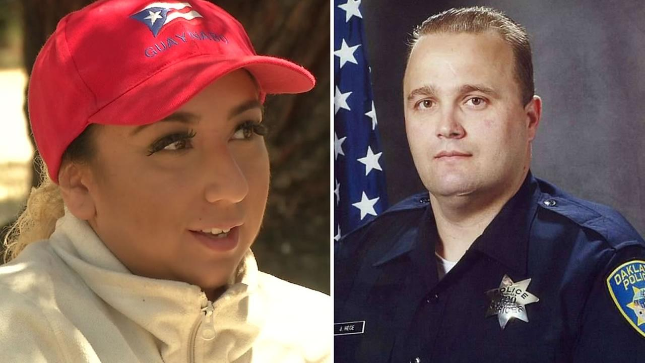From left to right: Celeste Gaup and Oakland Police Officer John Hege.