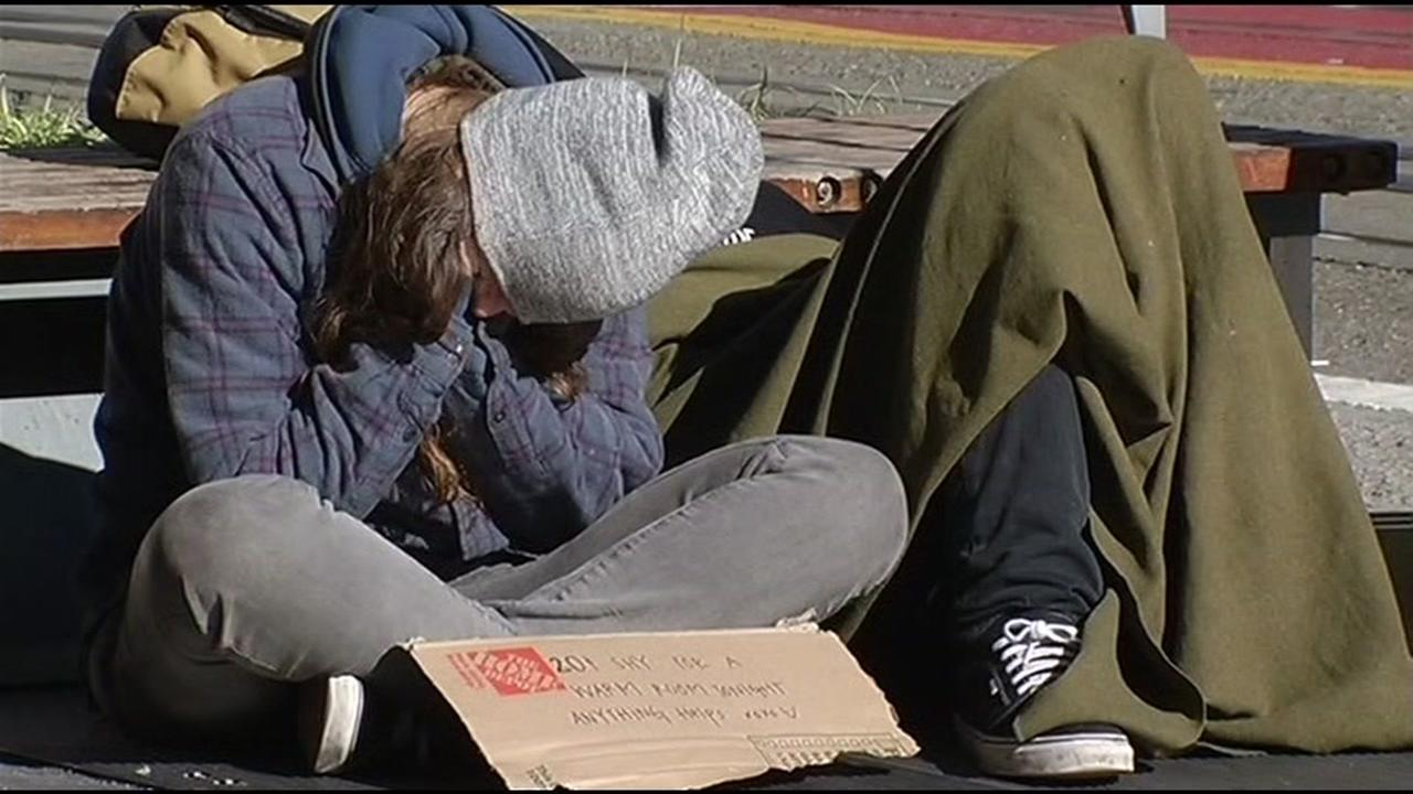 A homeless person is seen in San Francisco, Calif. in this undated image.