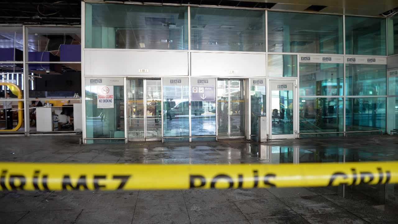 A sealed off entrance of Istanbuls Ataturk airport, Wednesday, June 29, 2016.