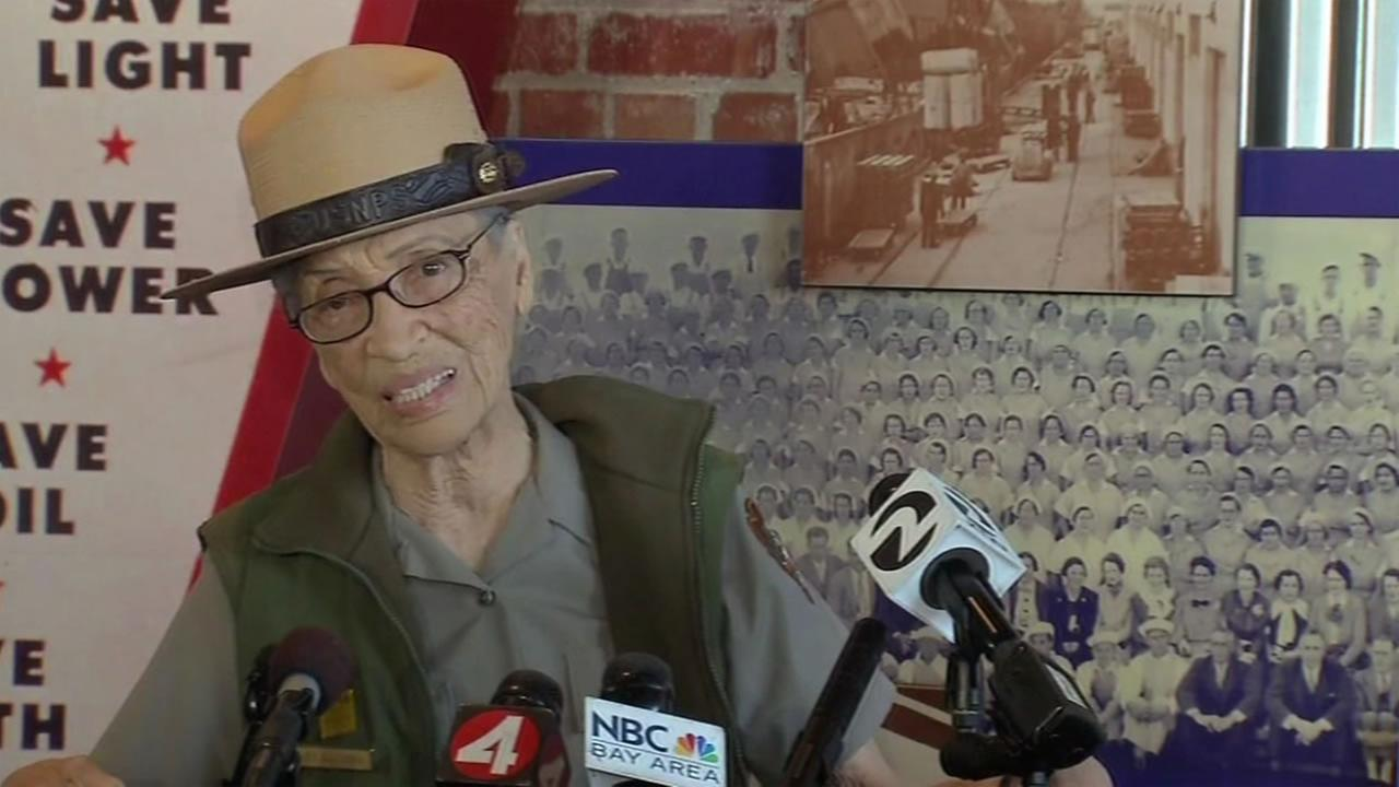 The oldest national park ranger in the country, 94-year-old Betty Soskin, returned to work Tuesday, July 12, 2016 after she was attacked and robbed in her Richmond, Calif. home.