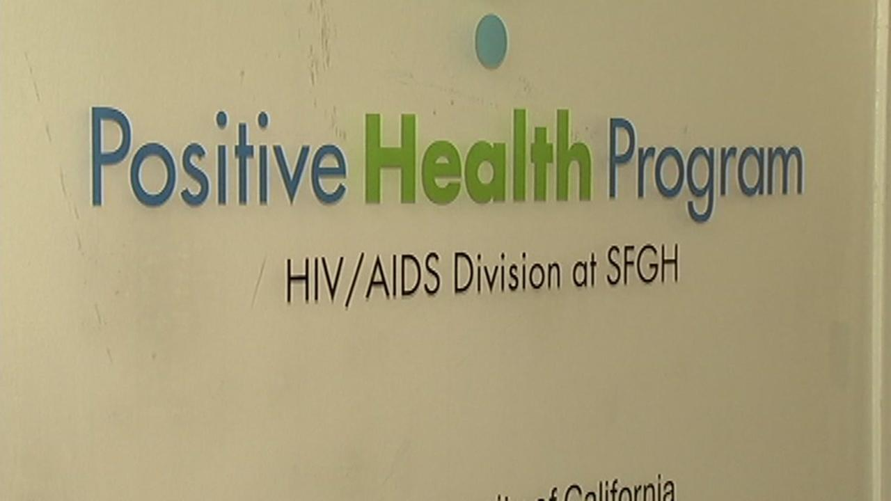 This undated image shows a sign for the Positive Health Program at Ward 86 at San Francisco General Hospital.