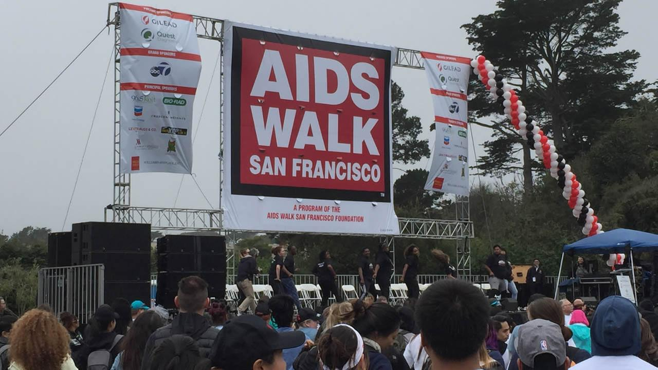 AIDS Walk San Francisco on Sunday, July 17, 2106.KGO-TV