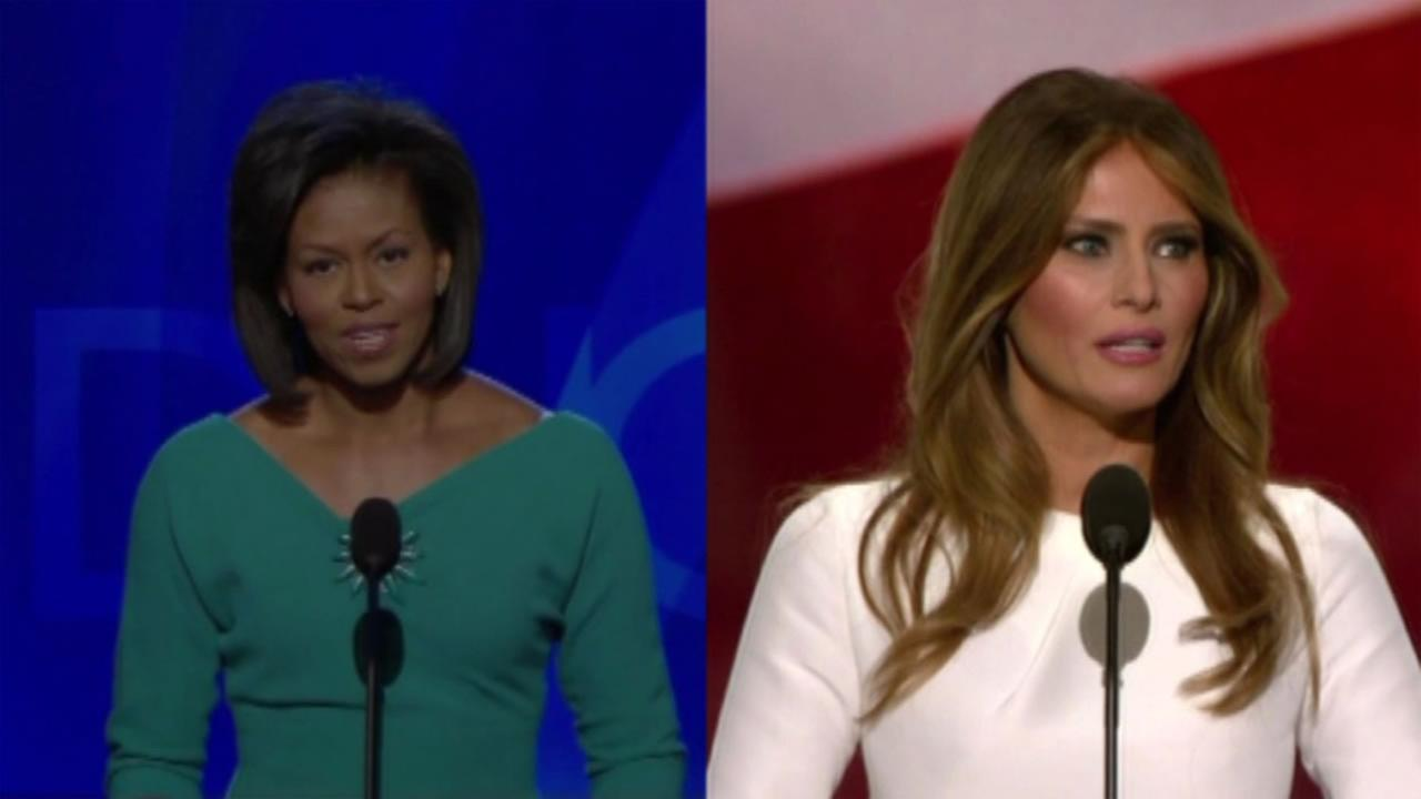 It appears part of Melania Trumps speech at the Republican National Convention mirrors First Lady Michelle Obamas at the 2008 Democratic Convention.