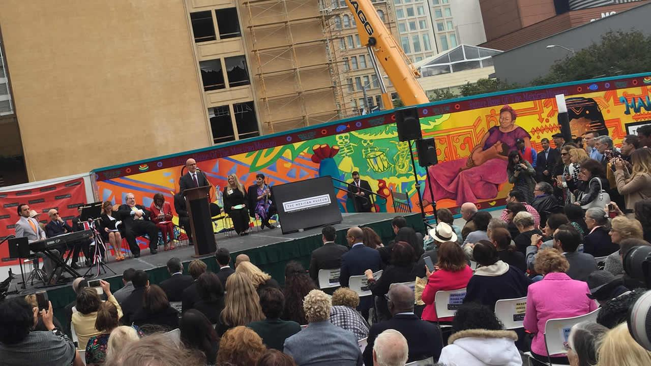 A dedication ceremony was held in San Francisco on Tuesday, July 19, 2016 for the Mexican Museum.