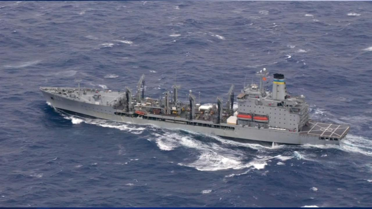 This image shows a U.S. Navy ship that will named Harvey Milk after the San Francisco gay rights icon.