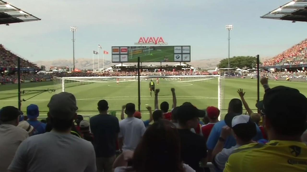 Soccer fans packed Avaya Stadium in San Jose, Calif. to watch the MLS All-Stars take on the Arsenal on Thursday, July 28, 2016.
