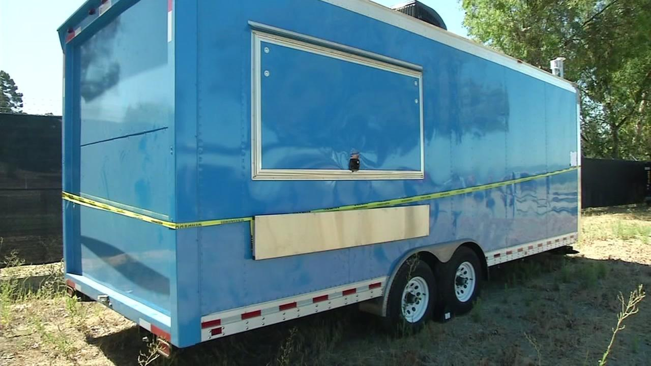 Stolen Alameda County Sheriffs Department trailer recovered, Friday, July 29, 2016.