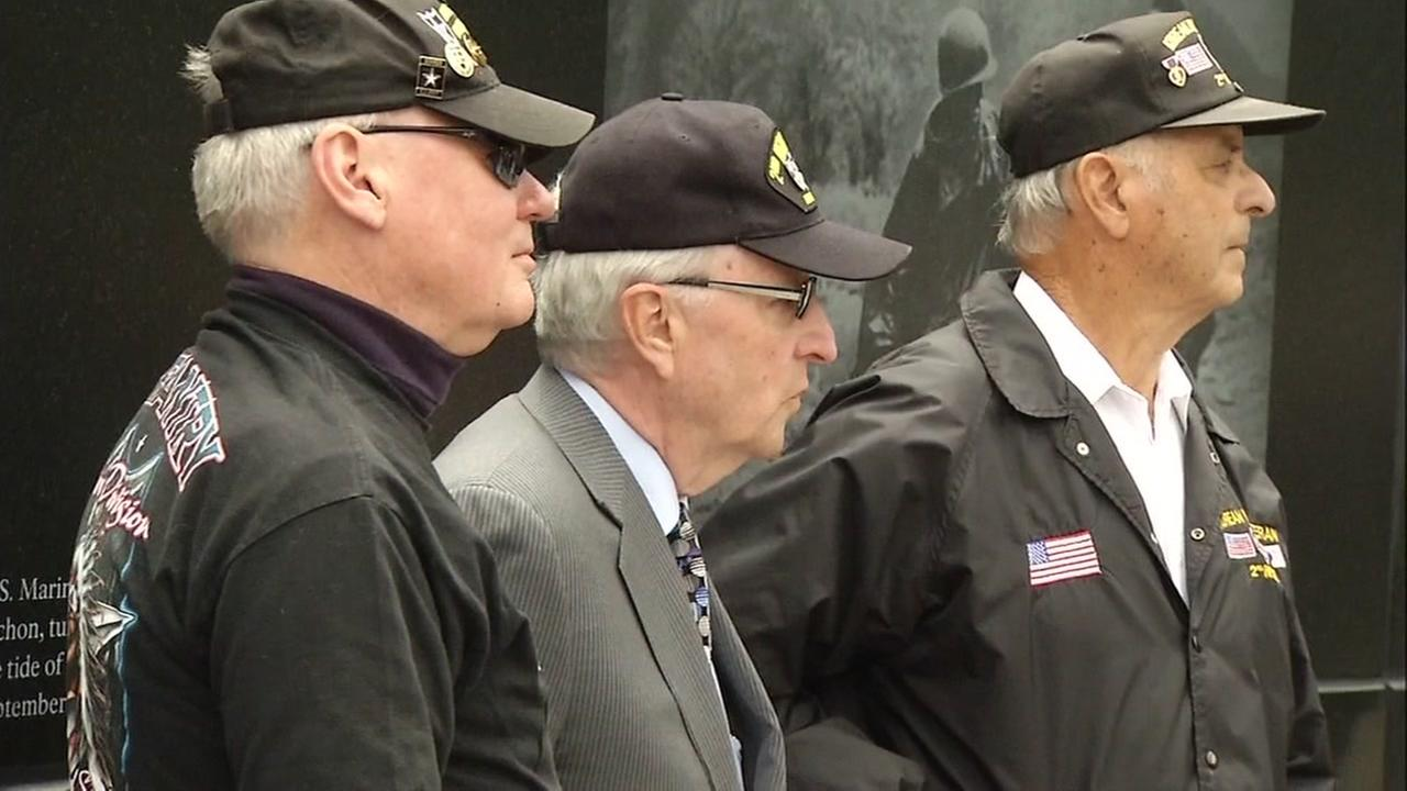 The Korean War Memorial was unveiled in San Franciscos Presidio National Cemetery on Monday, August 1, 2016.KGO-TV
