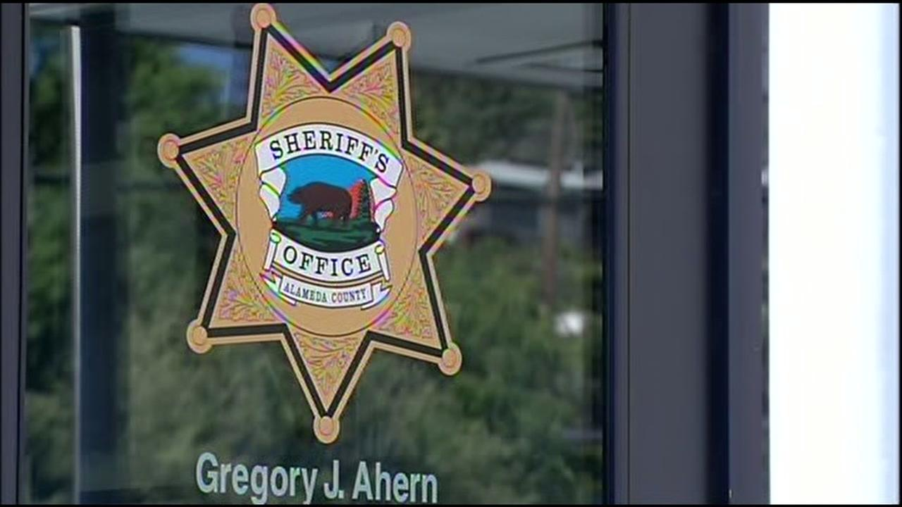 This undated image shows a sign for the Alameda County Sheriffs Office.